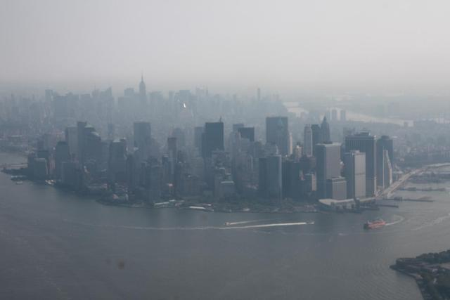 New York - Manhattan from Helicopter