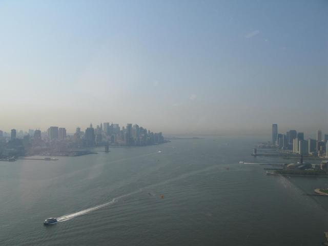 New York - Hudson River from Helicopter