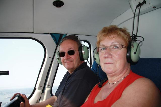 New York - Wiel & Tiny in Helicopter