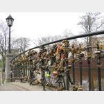 Riga - Padlocks on Bridge near City Canal