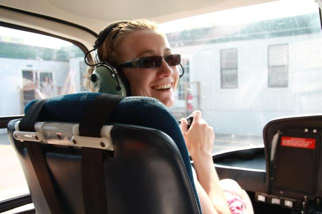 New York - Laura in Helicopter